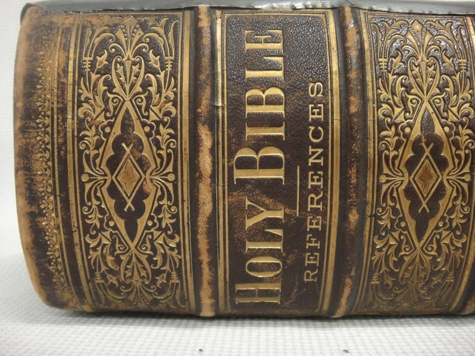 Antique 1800u0027s Holy Bible Copyright 1881 Revised Leather Bound - küchen ebay kleinanzeigen