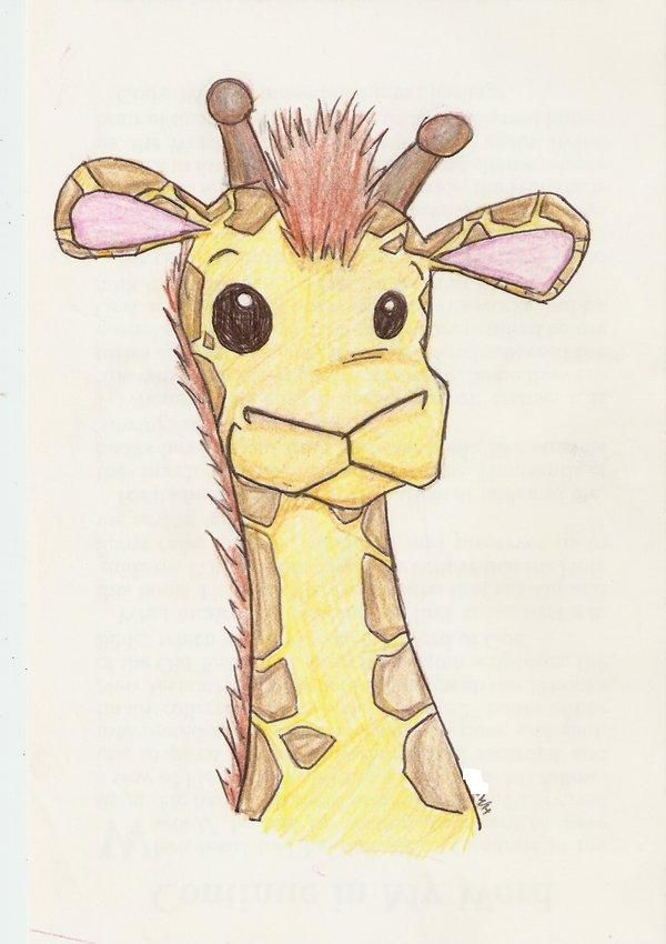 cute giraffe drawings cute giraffe by wolfie16 on