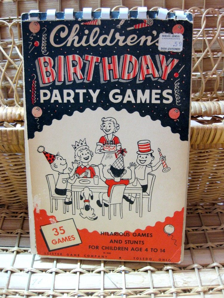 Vintage Book Childrens Birthday Party Games