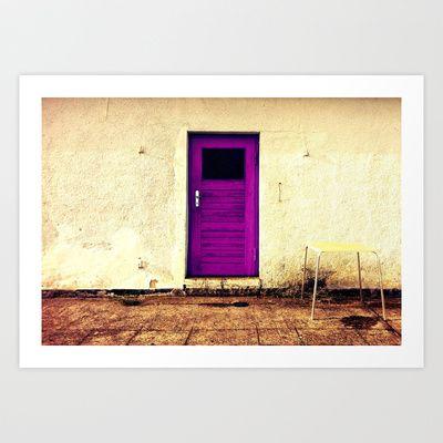 Purple Door Art Print by JT Elxnat - $14.00