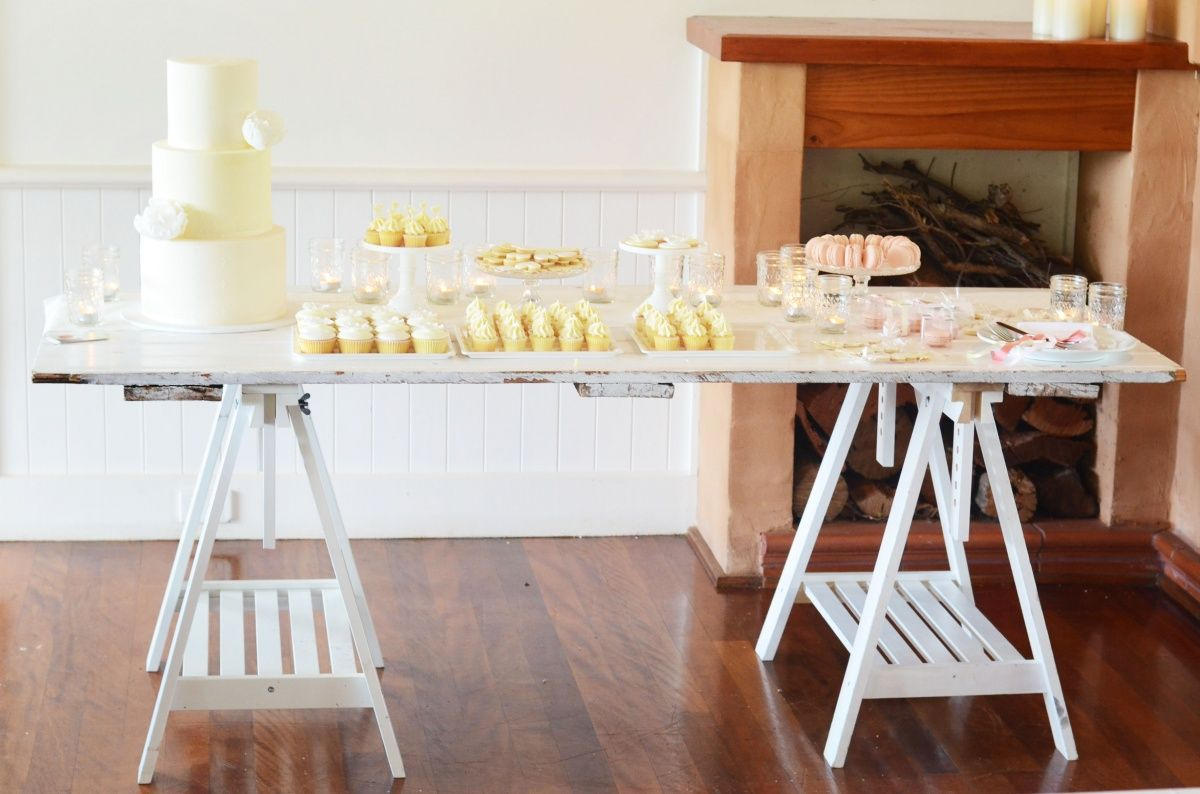 Lily And Bramwell   Event Hire Adelaide, South Australia Wooden Trestle  Table The Tabletop Is