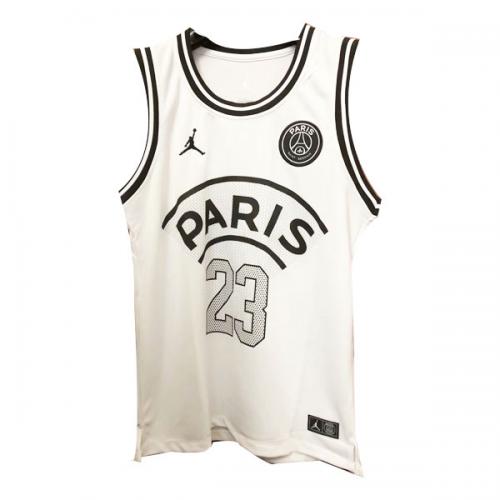 a04c7e36449d PSG×JORDAN Jordan  23 White Basketball Jersey Shirt