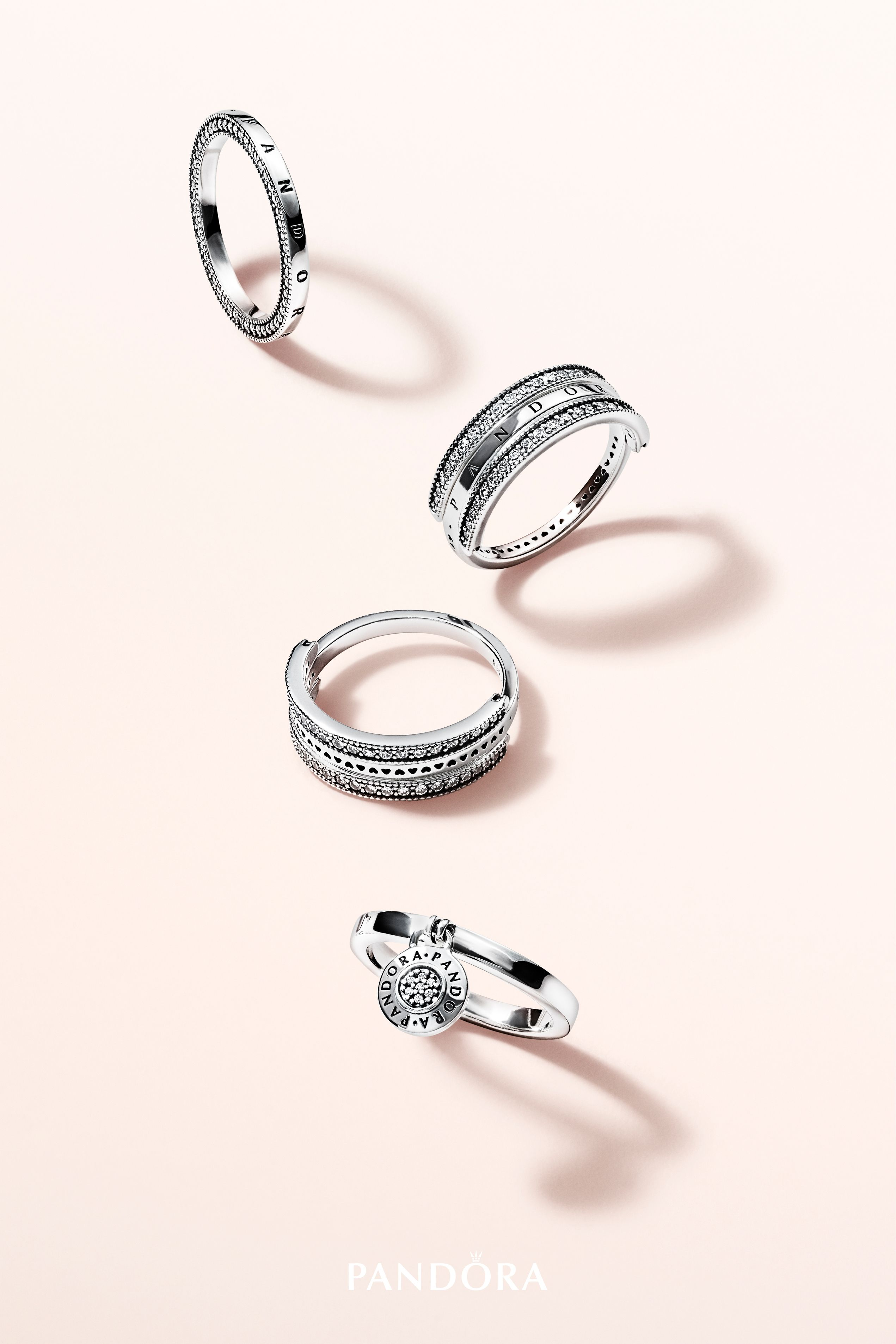 eb02a0057 Make a timeless statement with new rings from the PANDORA Signature  collection. Hand-finished from sterling silver, the pretty pieces are  detailed with the ...