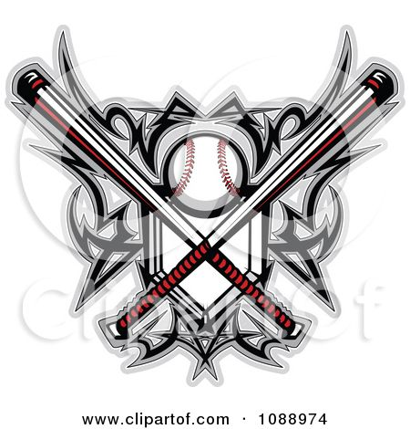 softball tattoos clipart tribal baseball home plate with crossed rh pinterest com baseball tribal tattoo designs Baseball Stitches Tattoo