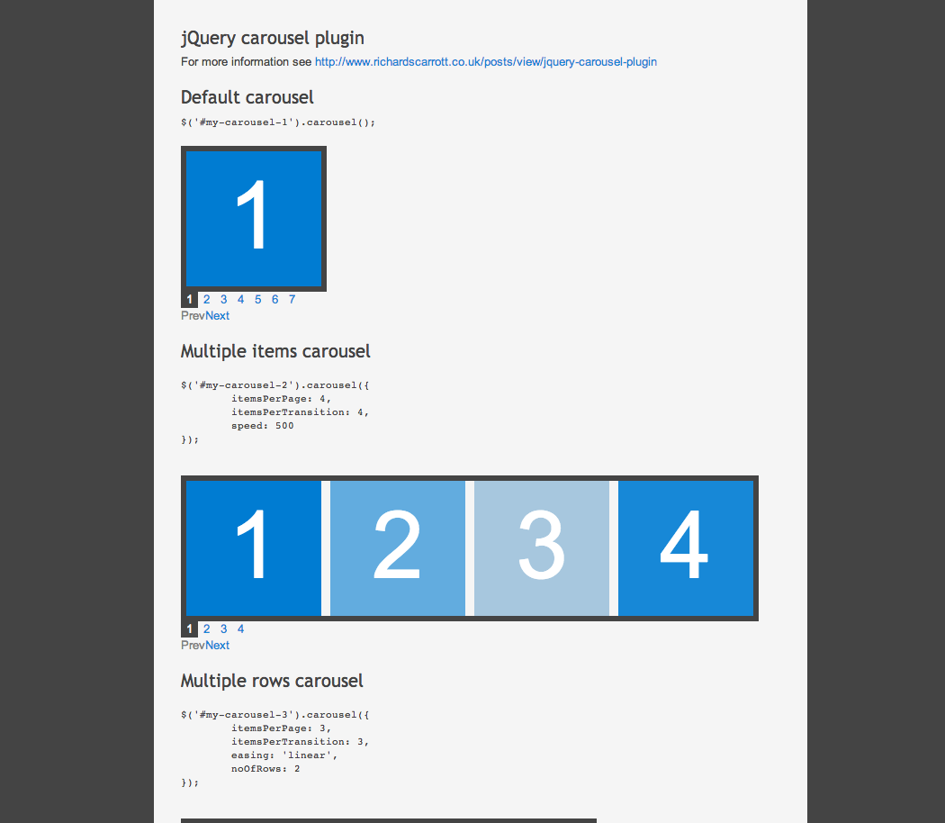 Jquery carousel plugin awesome code pinterest jquery carousel plugin baditri Gallery