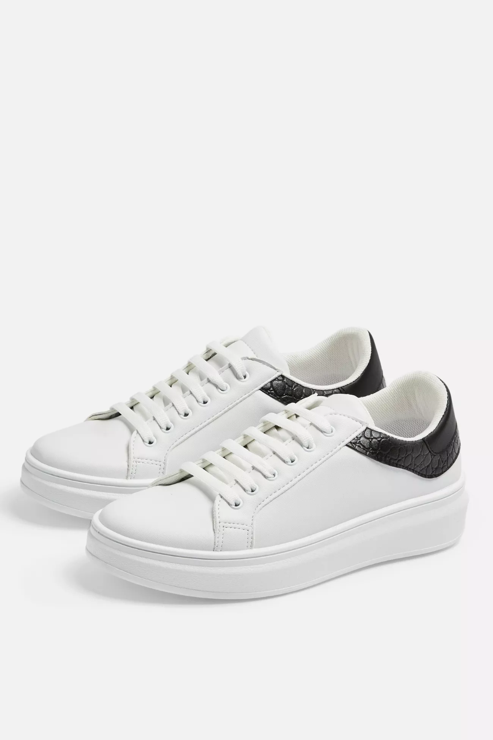 CUBA Black and White Lace Up Sneakers