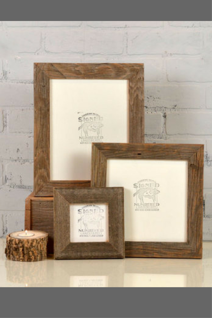 Classy Rustic Frames For The Farmhouse Look Rustic Natural Reclaimed Cedar Wood Picture Frame Choose You Rustic Frames Diy Picture Frames Wood Picture Frames