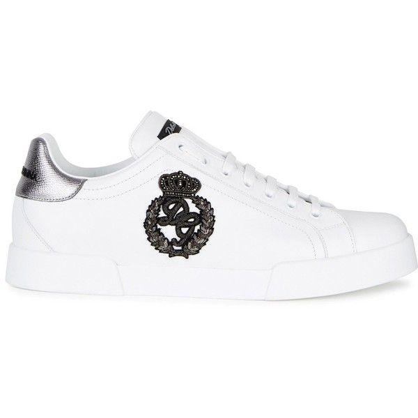 Dolce \u0026 Gabbana White Leather Trainers