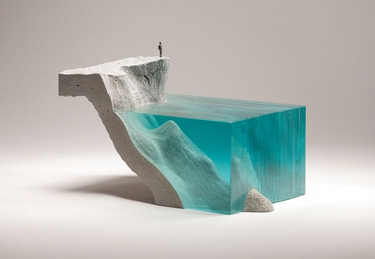 Self taught artist ben young has been creating glass ocean sculptures for over 15 years