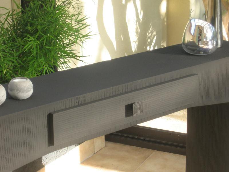 Création meuble en carton  Table console design - Création Meuble