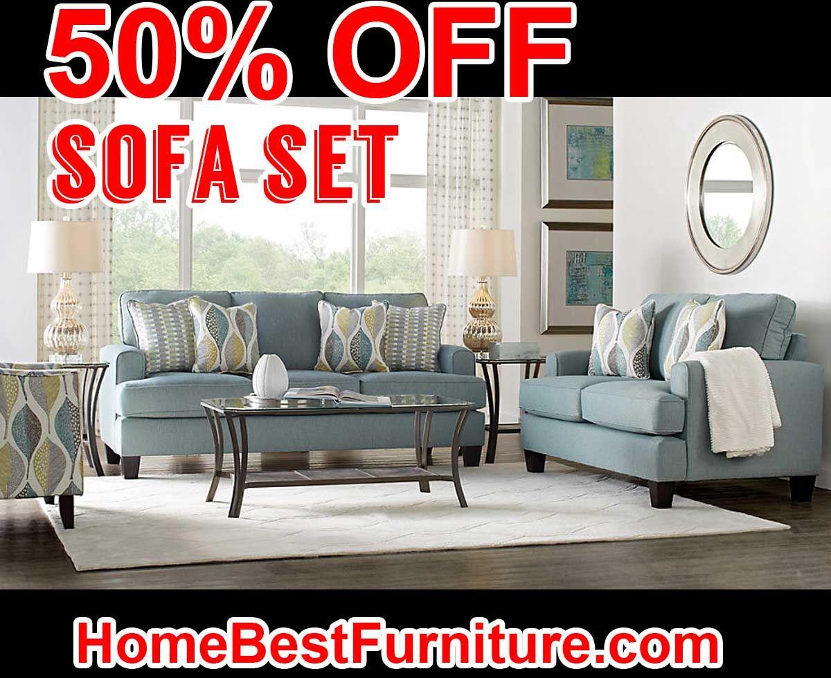 Living Room 50 Off 50 percent off discount cypress gardens blue sofa | home decor