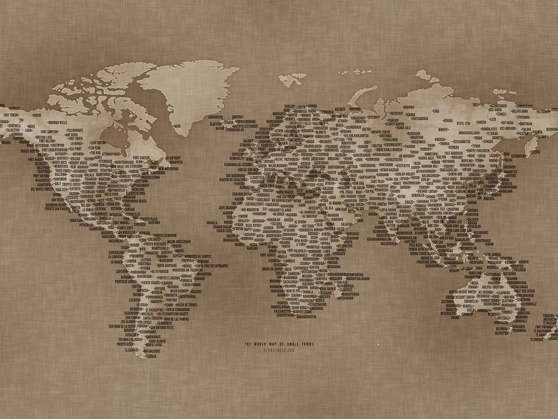 The world map of small towns fond dcran motifs pinterest the world map of small towns fond dcran gumiabroncs Images