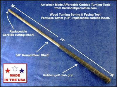 Carbide wood turning & hollowing tool