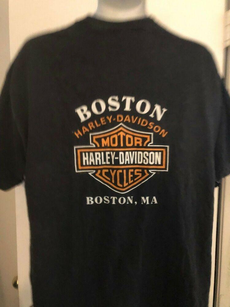 Boston Harley Davidson >> Vintage Boston Harley Davidson Xl Cotton T Shirt Boston Ma