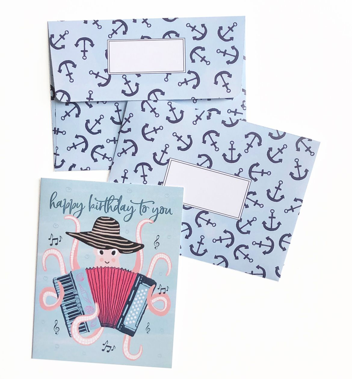 Birthday octopussingle card in 2020 birthday greeting