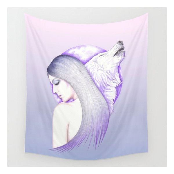 Raised By Wolves Wall Tapestry ($39) ❤ liked on Polyvore featuring home, home decor, wall art, wall tapestries, outside wall art, outside home decor, home wall decor, animal wall art and mounted wall art
