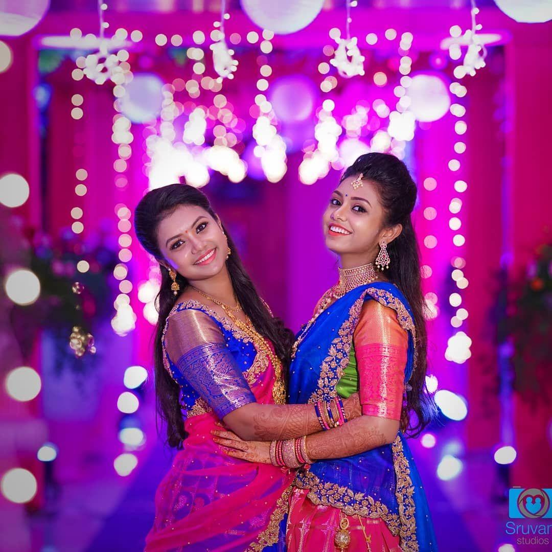 Sruvam Studios On Instagram Mua Vijiknr Bridesisters Weddingdress Weddingphotograp Bridal Photography Poses Wedding Photos Poses Wedding Picture Poses