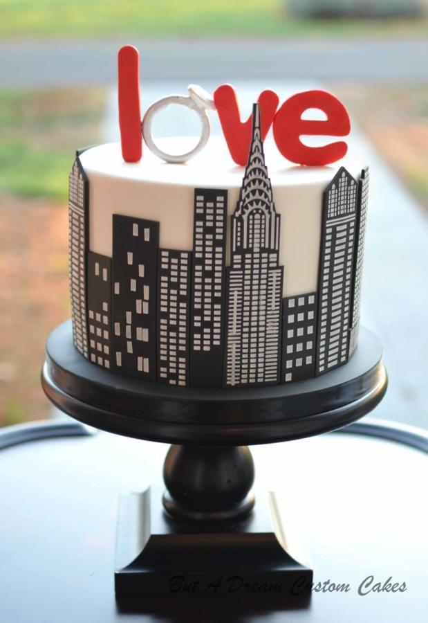 Nyc Engagement Cake By Elisabeth Palatiello Cakes Cake