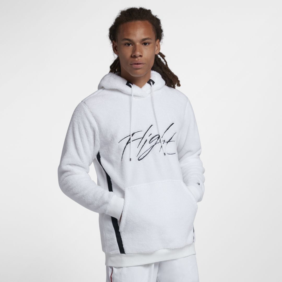buy popular 9b1ff aa98d Jordan Sportswear Wings of Flight Men s Sherpa Pullover Hoodie Size XS  (White)