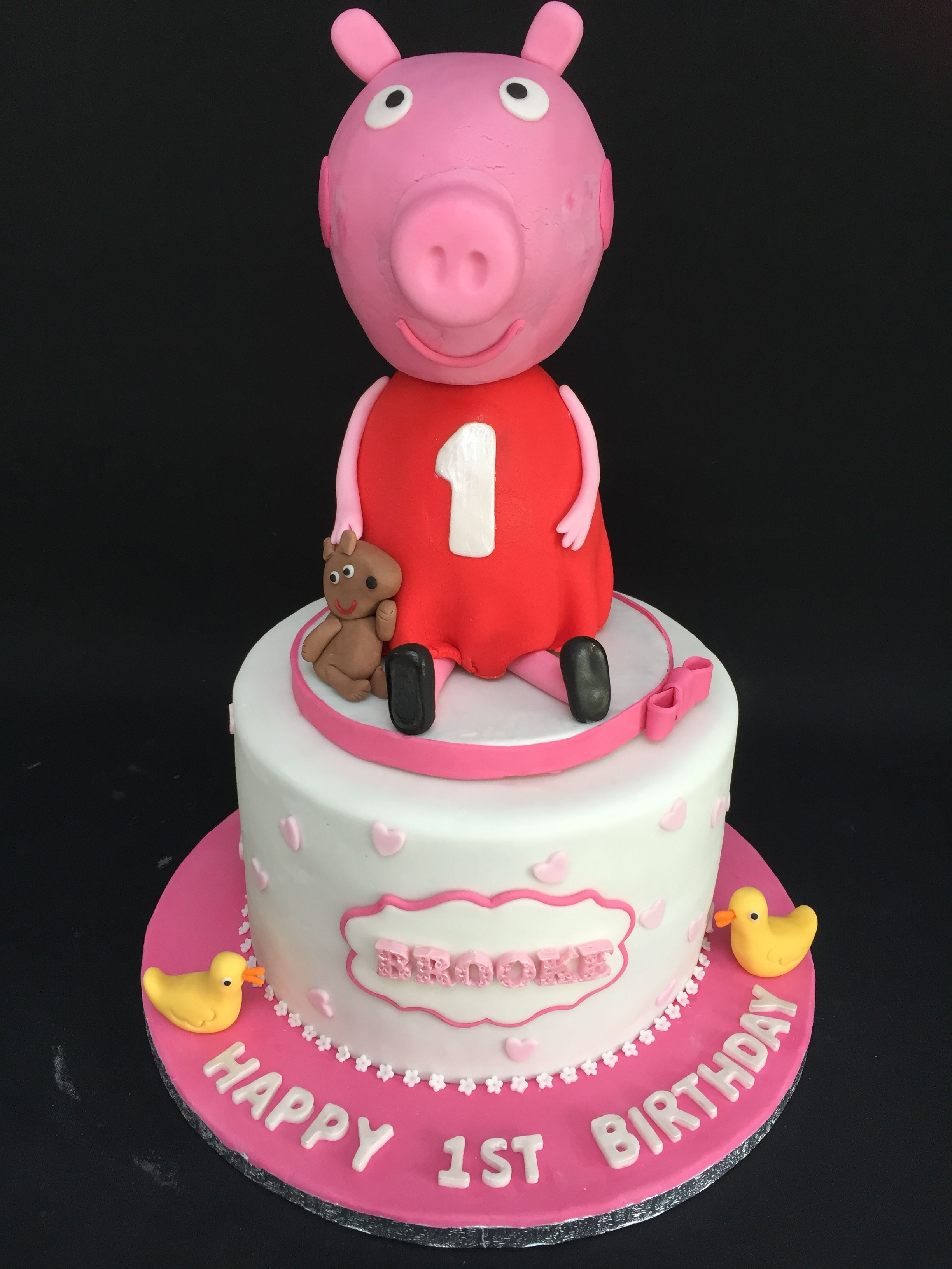 Giant Props Pig Themed Birthday Cake