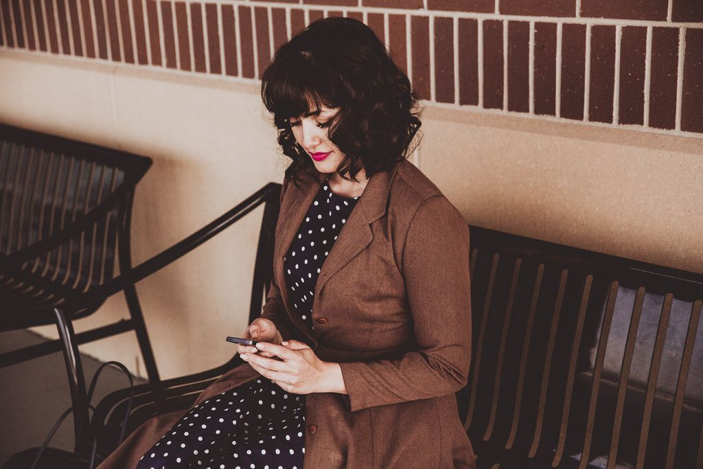 Vintage Coat, Polka Dots, and Filing Your Taxes with