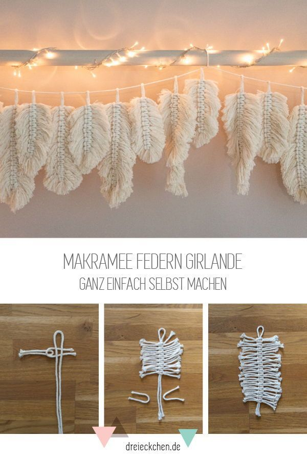 Photo of Makramee Federn als Wandhänger selber basteln | Blog › dreieckchen – Lifestyle Blog #dreimalanders