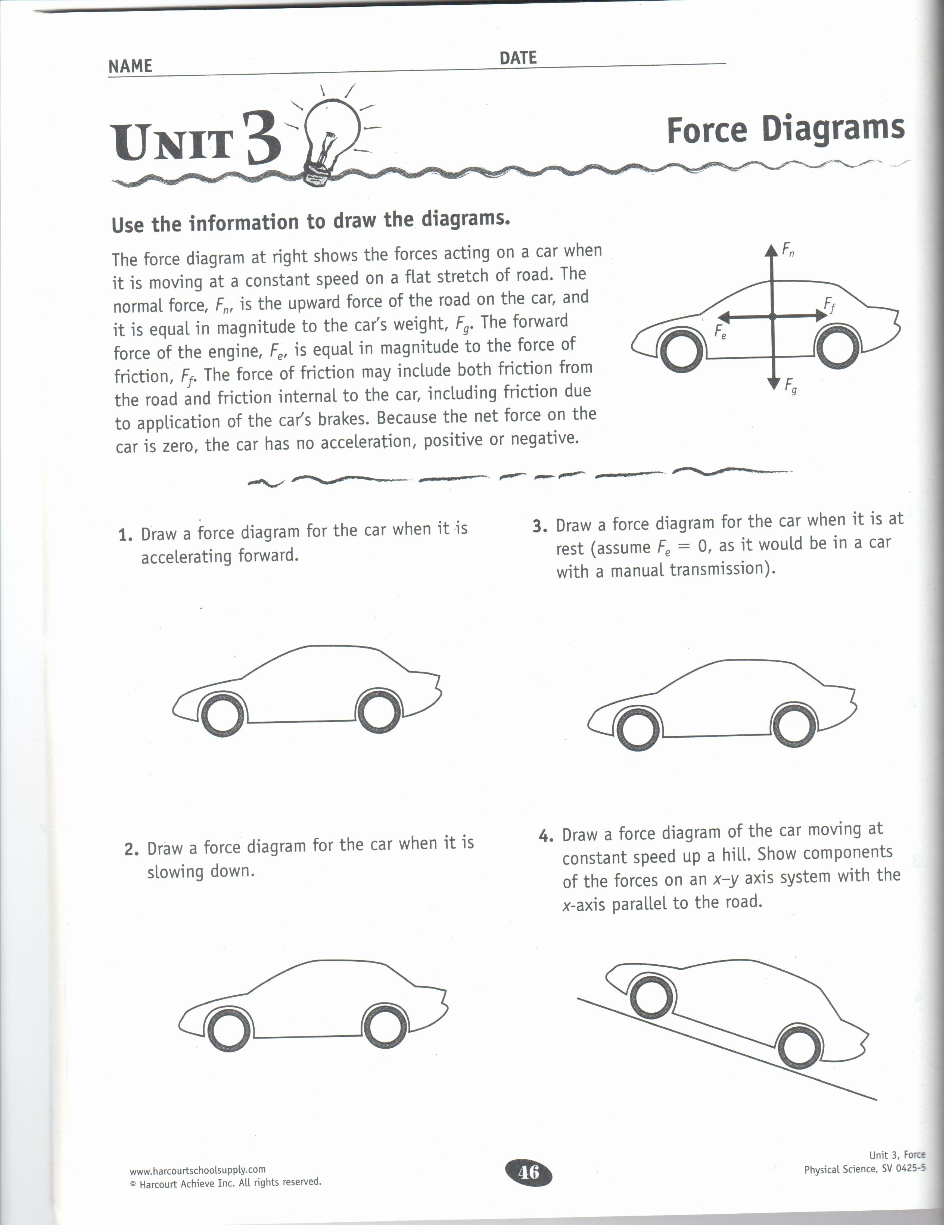 Friction And Gravity Worksheet New Force Gravity Friction