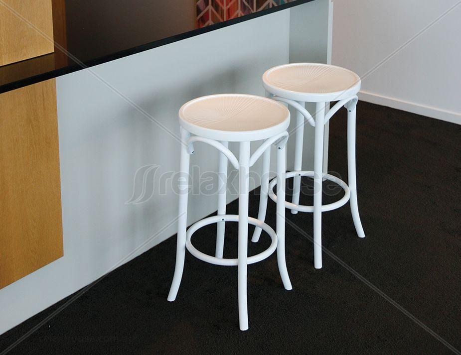 White 68cm Paris Bentwood Kitchen Stool By Michael Thonet Kitchen Stools Bar Stools Furniture Inspiration