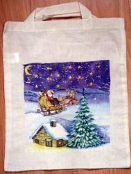 Baumwolltasche-Santa-Claus-u-Rentier