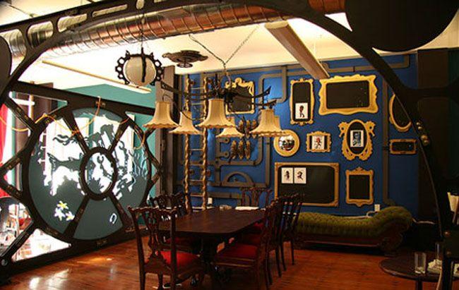 steampunk submarine futuristic steampunk interior style