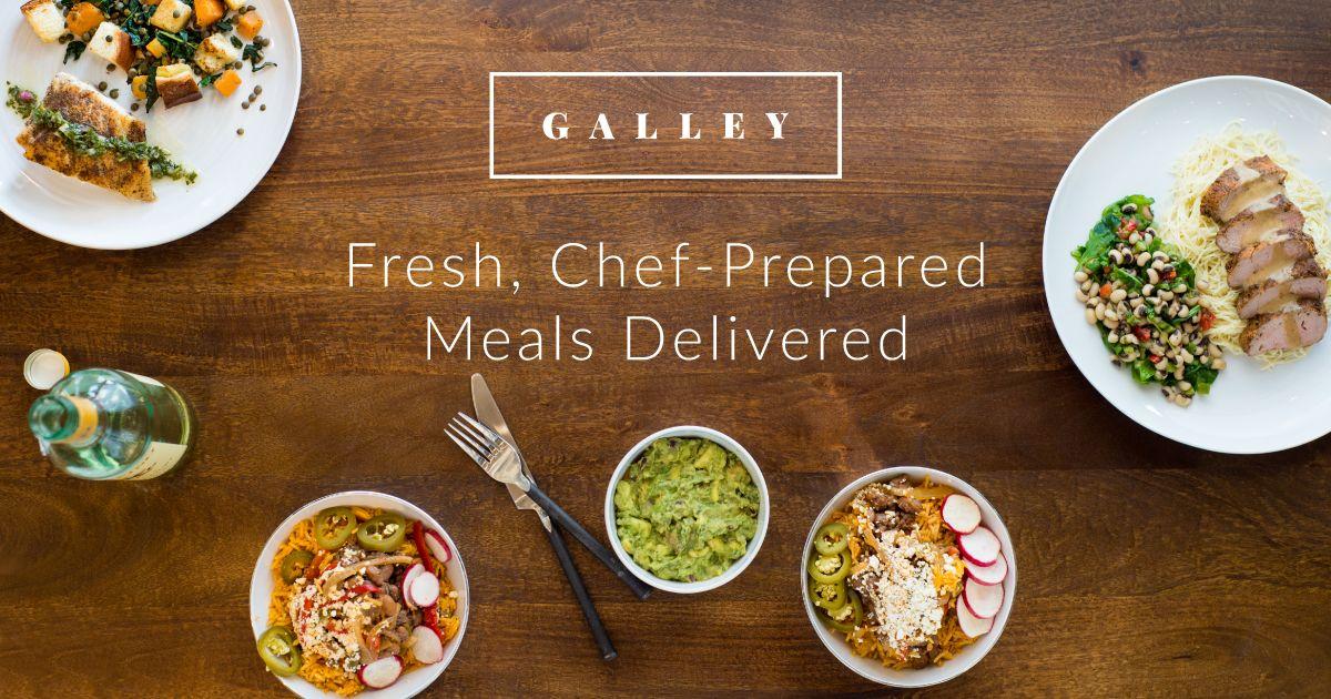 Galley foods delivered food preparation meals