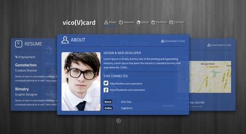 The vico v card template cool html business card templates using html business card templates allows you to showcase yourself online as a professional or businessman as such you must get reliable vcard templates fbccfo Choice Image