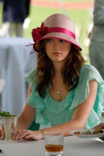 Walter Chiffon Dress,  Louise Green Cloche Hat,  Tiffany Fleur de Lis Pendant