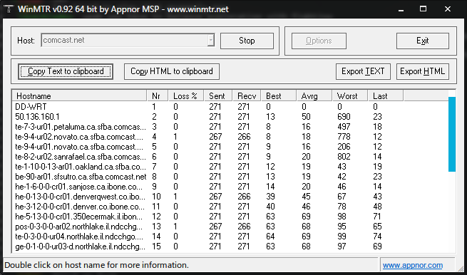Image result for ping test results table, latency , packet loss