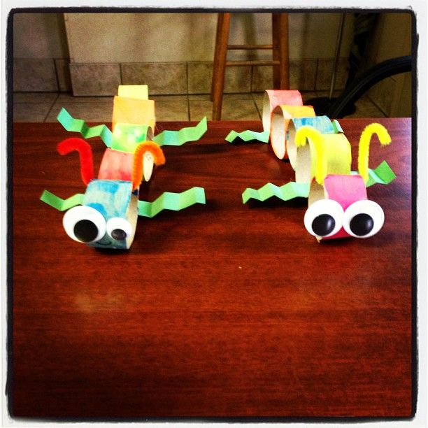 Bug crafts with toilet paper rolls arts and crafts for Bugs arts and crafts