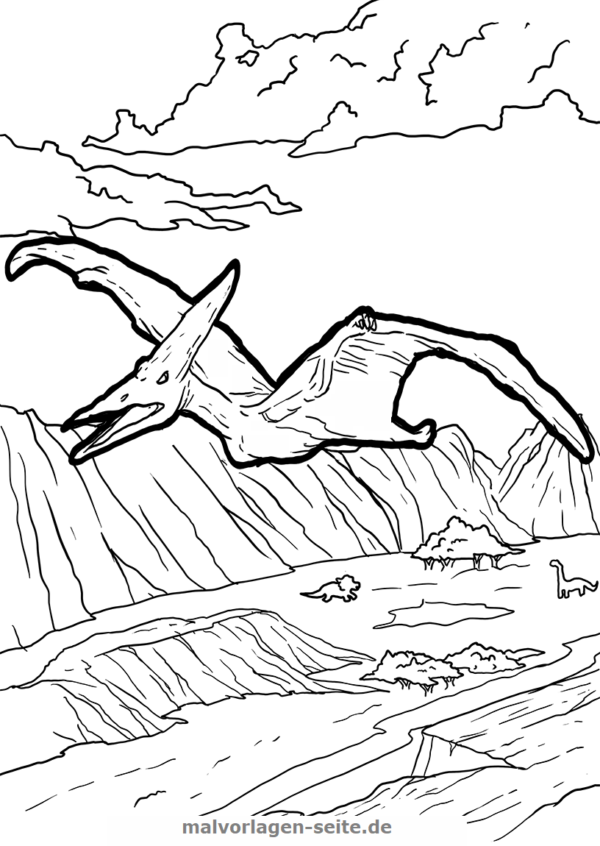 kids coloring pages pteranodon - photo#27