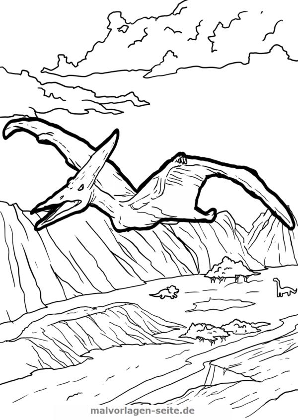 malvorlage pteranodon  dinosaurier  malvorlagen