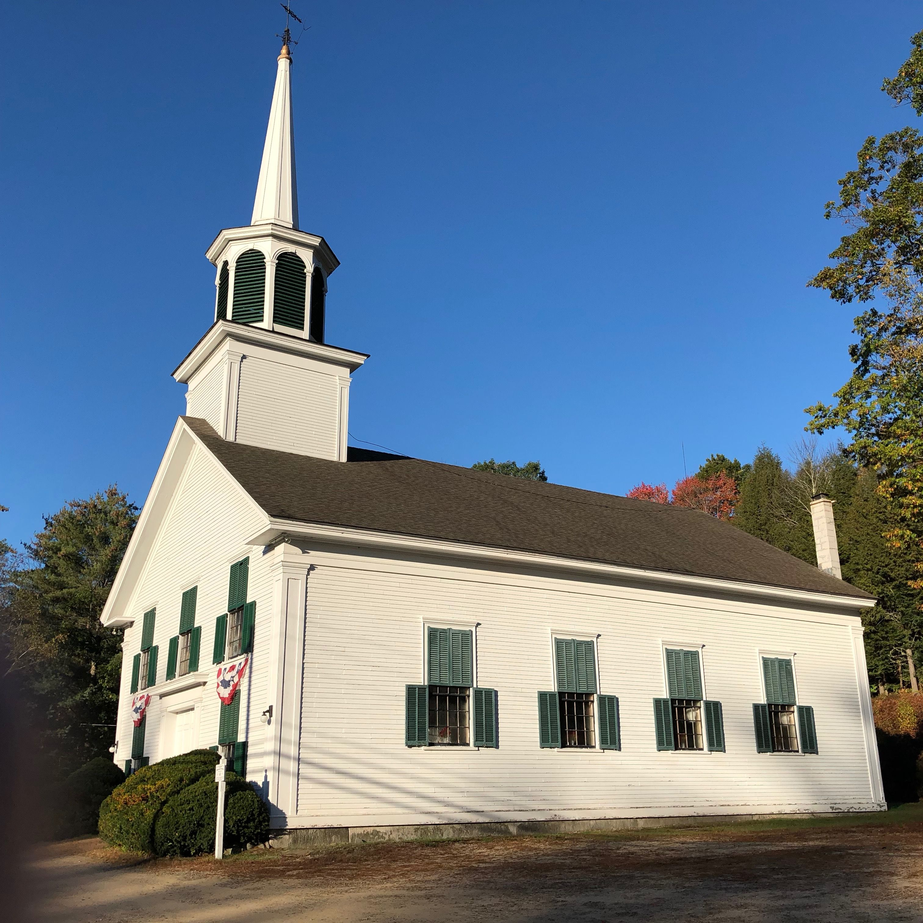 Congregational Church. Campton Lower Village, New Hampshire. Paul Chandler  October 2017.