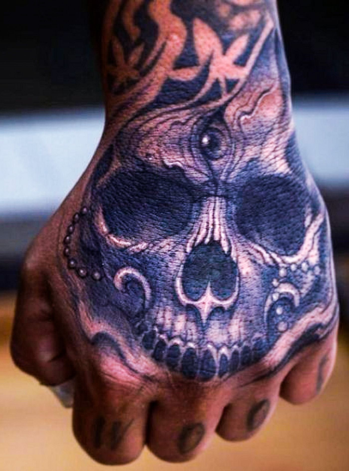 Skull Hand Tattoo Hand tattoos for guys, Skull hand