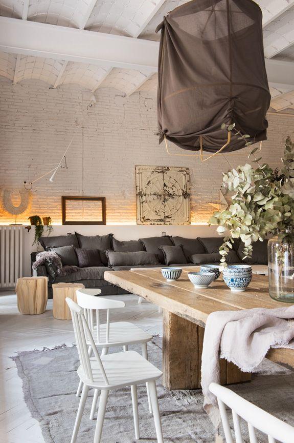 Cogiendo Un Poco De Estilo Vintage Industrial Y Nordico Es Posible Crear Una Casa Asi De Espectacu Met Afbeeldingen Huis Interieur Interieur Woonkamer Woonideeen