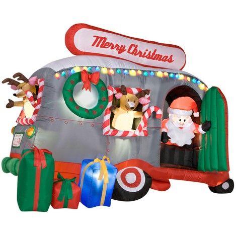 Animated inflatable Christmas yard decorations