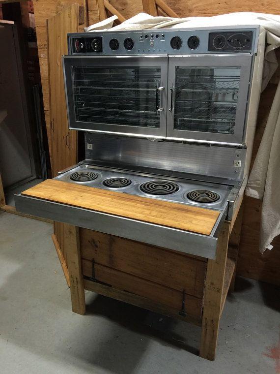 Midcentury Retro Kitchen 1959 Tappan Visualite Fabulous 400 Dual Oven Electric Stove Atomic Futuristic Jet Ag Retro Kitchen Futuristic Furniture Kitchen Design