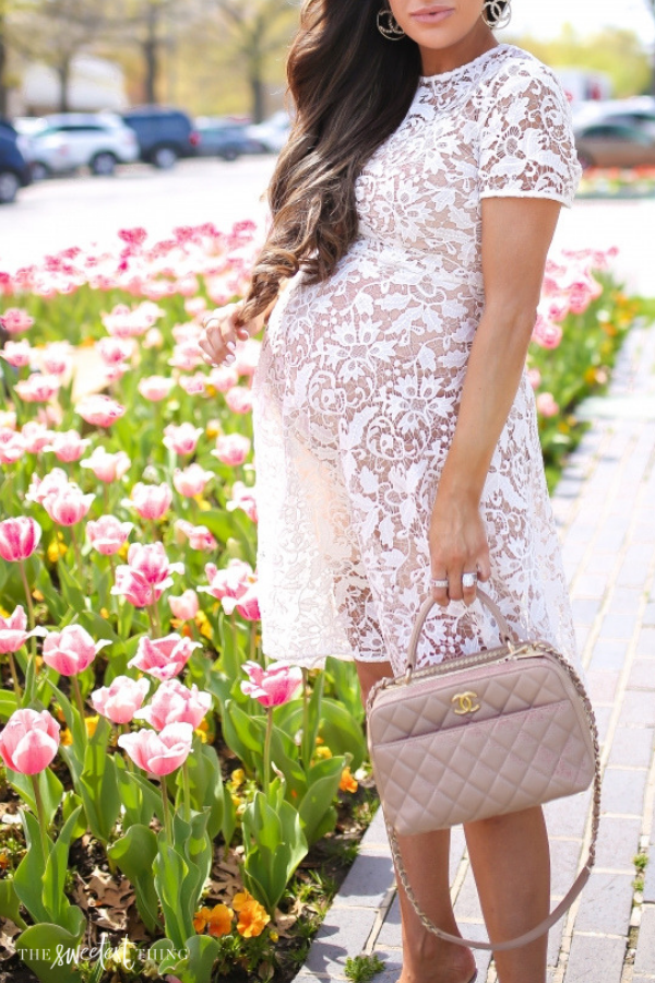 3f8bbe2b895 The Most Beautiful White Lace Dress For Easter 2019 | Maternity Style