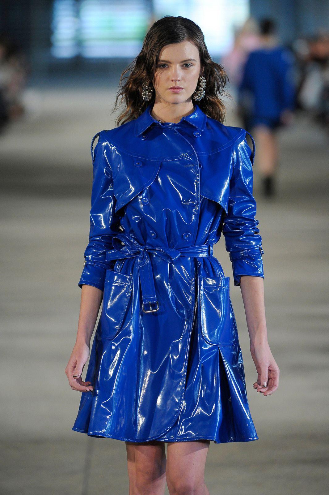 Vinyl Trenchcoat Rainwear Fashion Raincoats For Women Raincoat Jacket