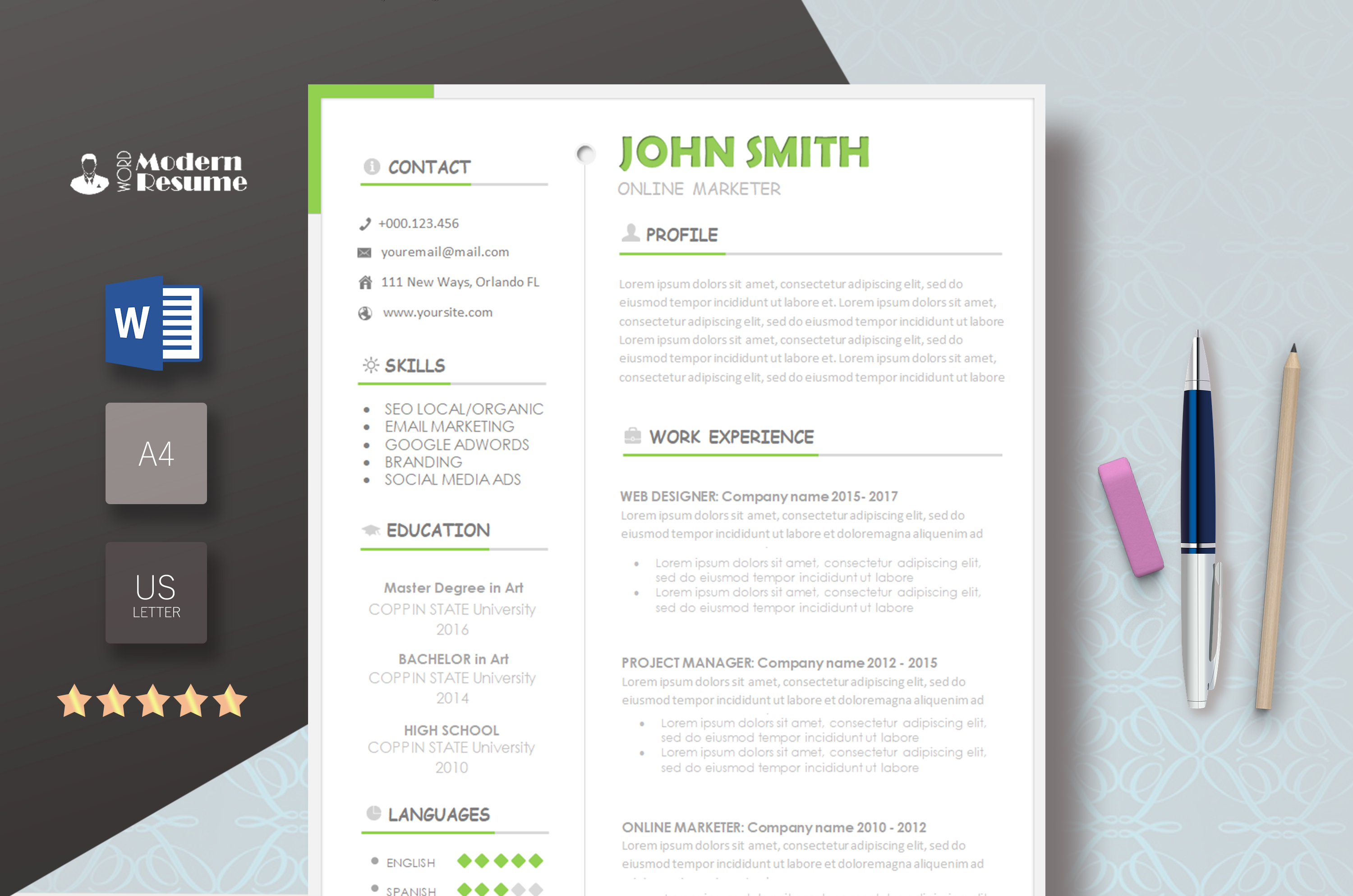 Free Template Modern Resume Templates 2019, Image result