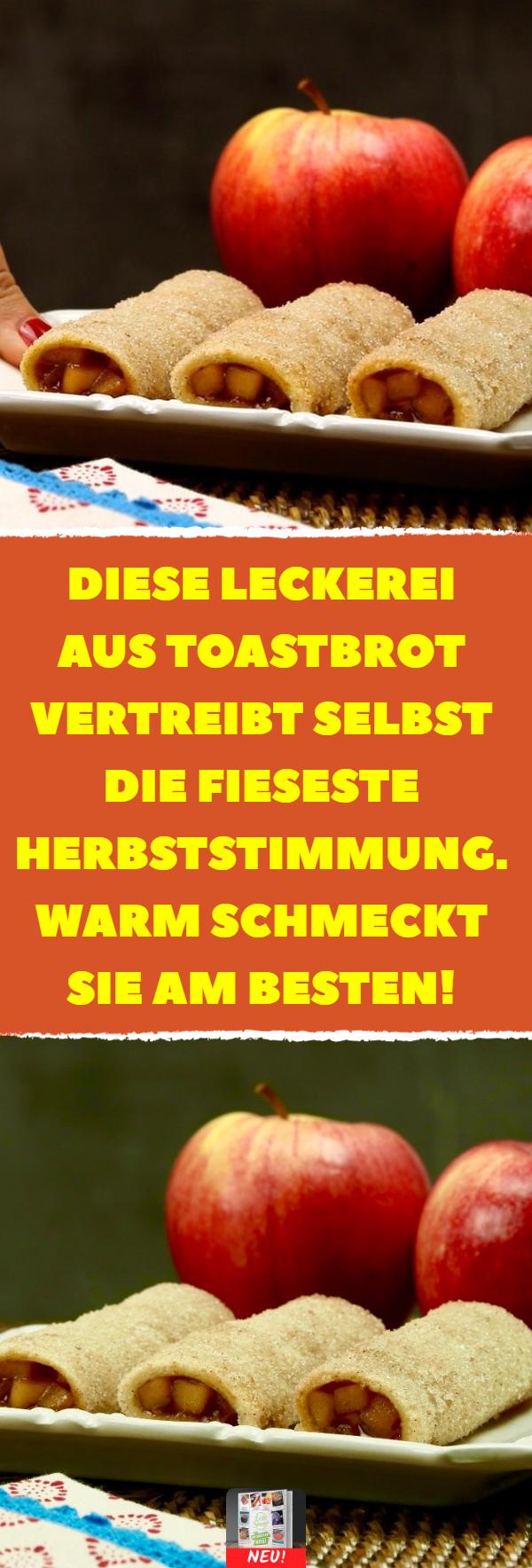 Diese Leckerei aus Toastbrot vertreibt selbst die fieseste Herbststimmung. Warm schmeckt sie am besten! #herbst #rezept #rezepte #apfel #kuchen #dessert #herbstgerichte