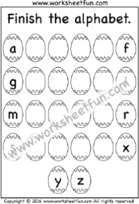 Missing Lowercase Letters – Missing Small Letters – Three Worksheets ...