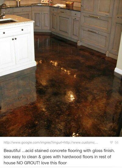 Beautiful Finishing Basement Floor Concrete
