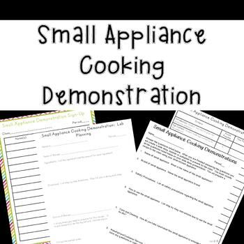 Small Appliance Cooking Demonstration (Family and Consumer