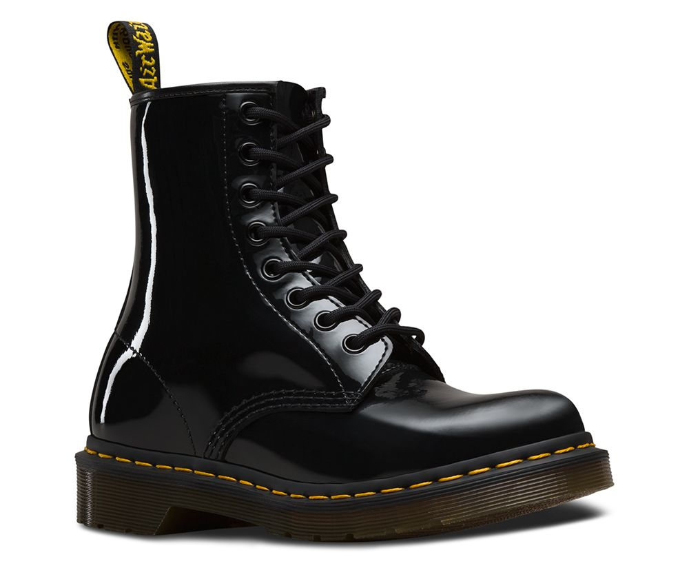 Patent leather boots, Dr martens